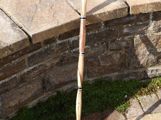 Spalted red beech walking stick