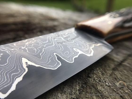 Damascus trade knife