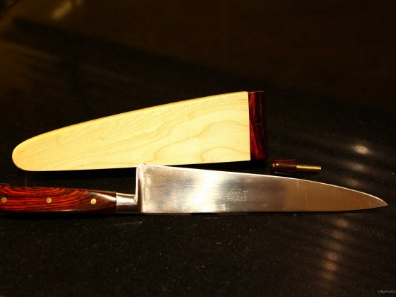 Refurbished Carving knife with the addition of a new Saya.