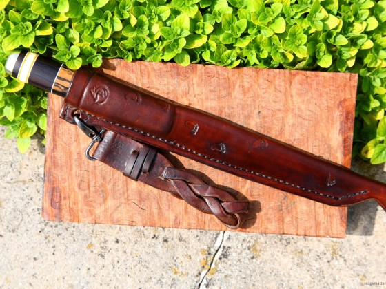 Scandinavian Filleting Knife with leather sheath