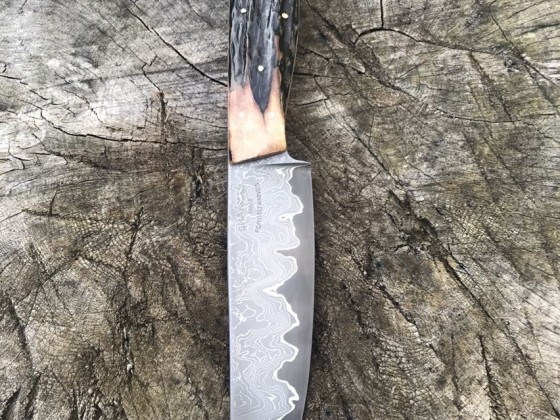 Damascus trade knife